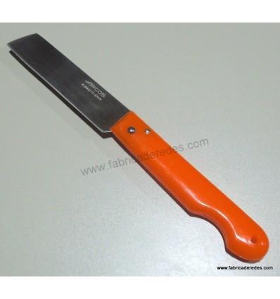 Navaja profesional 85mm punta cortada naranja