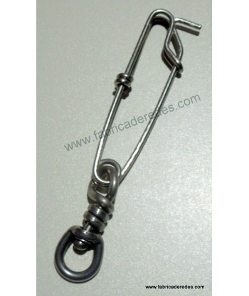 Stainless steel carabiner with swivel 1.8x60 + S / S SBL