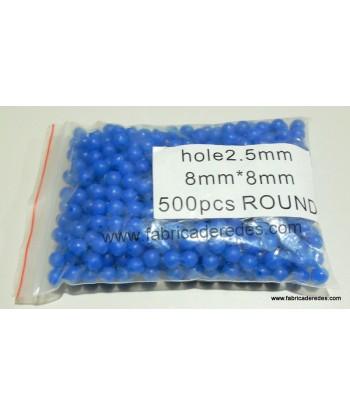 Perlita azul 2.5mm x 8mm (no luminiscente)