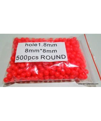 Perlita luminosa Roja 1.8mm x 8mm