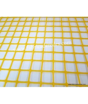 Malha De Plástico Quadrado Amarelo 3cm x 3cm 450 grs