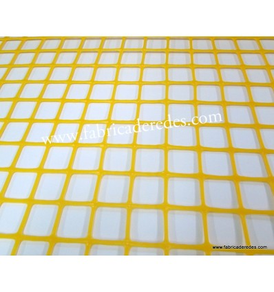 Malla Plástica cuadrada Amarilla 3cm x 3cm 450 grs