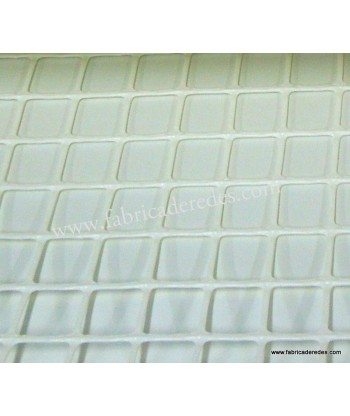 Malla Plástica cuadrada Blanca 3cm x 3cm 450 grs