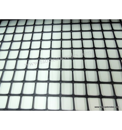 Malla Plástica cuadrada Negra 2,5cm x 2,5m 560grs