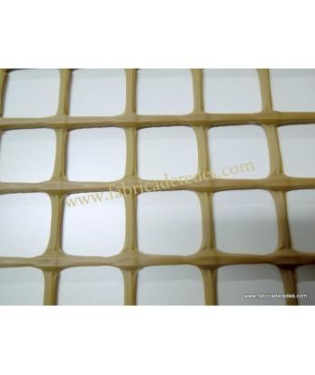 Malla plástica cuadrada Marrón 3CM X 3CM 750gramos
