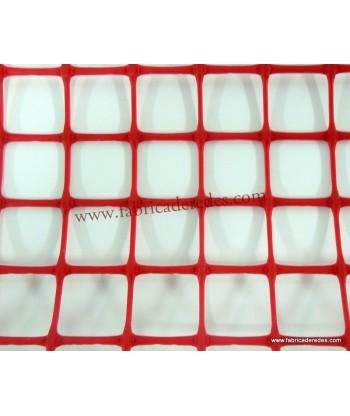 Malla Plástica cuadrada Roja 3cm x 3cm 500 grs