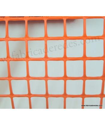Malla Plástica cuadrada Naranja 2,5cm x 2,5cm 560 grs