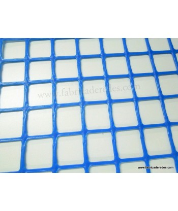 Malla plástica cuadrada Azul 3cm x 3cm 450 gramos