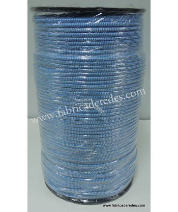 Cuerda polipropileno 8mm x 500 metros Blanco-Azul