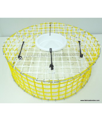 Yellow and white flat octopus trap