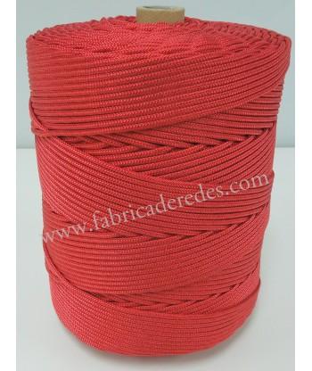 Cabo nylon trenzado 4,5mm x 500 metros Rojo
