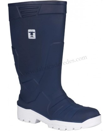 Ultralite Navy Boots with white sole
