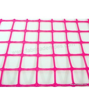 Malla plástica cuadrada rosa 3cm x 3cm 450gramos