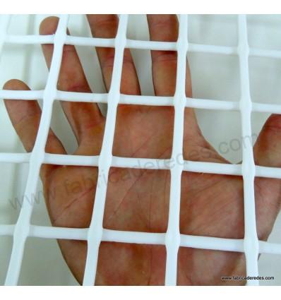 Malla plástica cuadrada blanca 3cm x 3cm 750 gramos