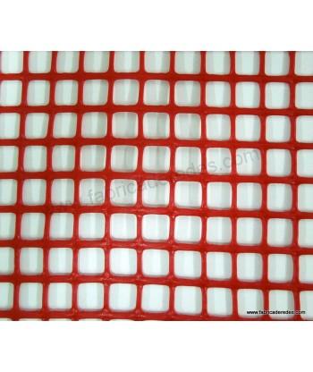 Red square plastic mesh 1.8cm x 1.8cm 620 grams
