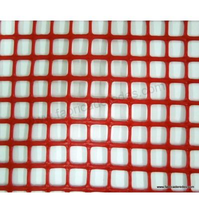 Malla plástica cuadrada roja 1,8cm x 1,8cm 620 gramos