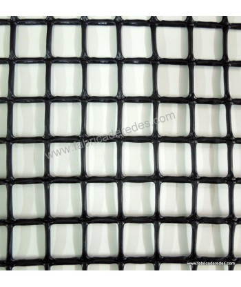 Malla cuadrada NEGRA 2,5cm x 2,5cm 650 gramos