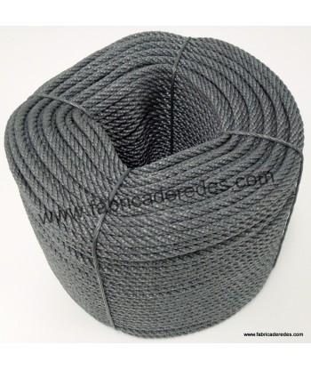 Cuerda polietileno 7mm x 200 metros Gris