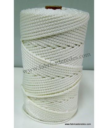 Cuerda poliéster trenzado 6mm x 200mts Blanco