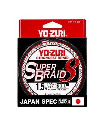 YOZURI SUPER BRAID 8X multicolor 300 metros
