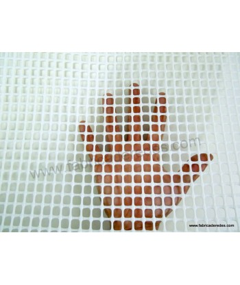 Malla cuadrada Blanca 8mm x 8mm 400 gramos