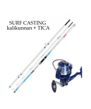 Combo CAÑA BIG SURF 4,20 Mts y CARRETE SCEPTER 5000 GF (SURF CASTING)
