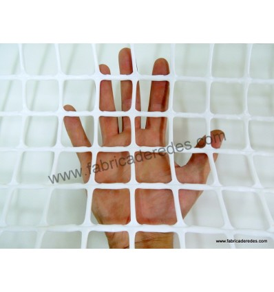 Malla Plástica cuadrada Blanca 3cm x 3cm 650 grs