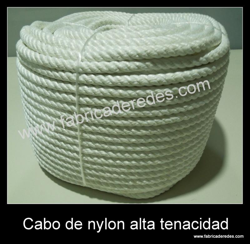 Cabo de nylon torcido alta tenacidad