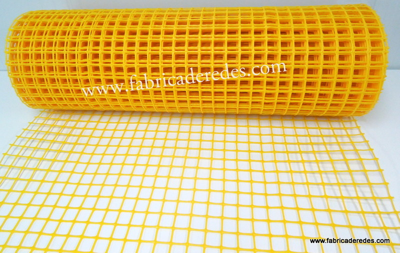 Malla plástica Amarilla 3cm