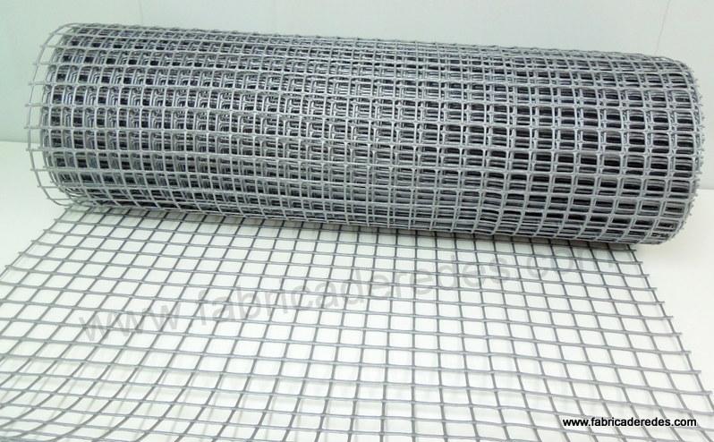 Malla gris plateada 450g 3cm x 3cm
