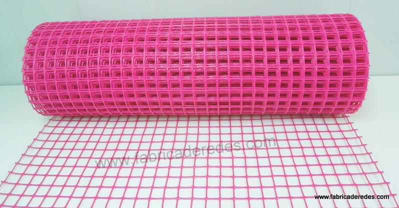 Malla rosa plástica 3cmx3cm